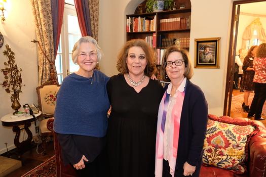 Eva Margueriette, host Janice Conzonire and Karen Linstone