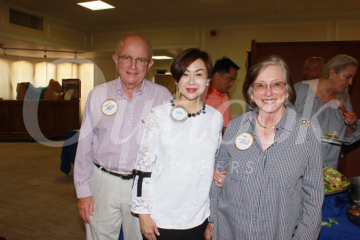 Larry Jones, Rotary President Fang Ho and Mireya Jones