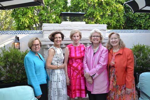 """""""La Vie en Rose"""" committee members Phyllis Crandon, Barbara Phillips, Janet Stanford, Charlotte McDonald and Cheryl Nickel"""