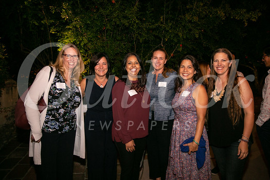 Stefanie Killackey, Nicollette Fuerst, Christina Pink, Schools Foundation President Erin Bilvado, Michiko Lee and Lauren Shen
