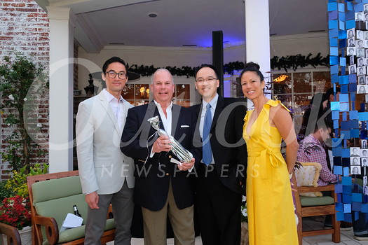 San Marino Schools Foundation Executive Director James Lau, board President Chris Maling, Vice President of Administration Larry Yang and event chair Michele Canon