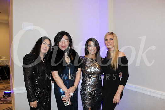 Co-chairs Maria Manibog and Vivian Lu, PTA President Zarana Patel and co-chair Elizabeth Karr